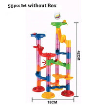Load image into Gallery viewer, 29/80/105pcs Marble Run Building Blocks Funnel Slide Bricks Toys For Children Kids labyrint Rolling Ball Toys Educational Toys