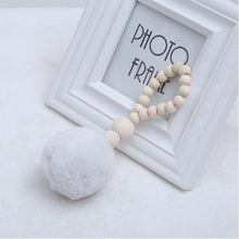 Load image into Gallery viewer, Nordic Wooden Beads Ornament Double Star Moon Kids Room Decoration Baby Crib Tent Hanging Pendant Wall Decor Photography Props