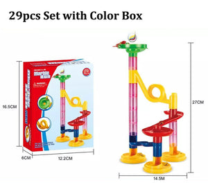 105PCS DIY Maze Balls Track Building Blocks Toys For Children Construction Marble Race Run Pipeline Block Educational Toy Game