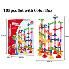 Load image into Gallery viewer, 105PCS DIY Maze Balls Track Building Blocks Toys For Children Construction Marble Race Run Pipeline Block Educational Toy Game