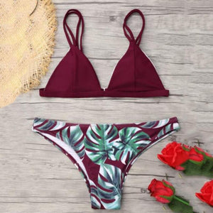 Women Bikinis Swimsuit Women's Bikini Cut Hawaii Two Piece Swimsuit Swimwear Pushups Swimwear Sexy Beachwear Bikini Set Bra New