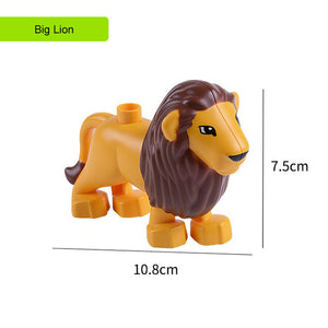 Compatible Duplo Big Size Bricks Toys For Children Animal Figures Models Series Toys Boys Girls Baby Kids Educational Toys Gifts