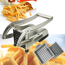 Load image into Gallery viewer, Potato Chips Making Machine Stainless Steel French Fry Potato Cutter French Fries CutterCutting Machine 2 Blades Different Holes