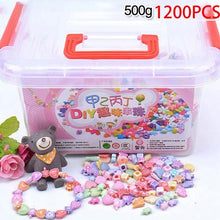 Load image into Gallery viewer, 1000Pcs DIY Handmade Beaded Toy with Storage Box Creative Girl Jewelry Bracelet Jewelry Making Toys Educational Children Gift