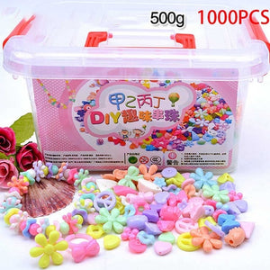 1000Pcs DIY Handmade Beaded Toy with Storage Box Creative Girl Jewelry Bracelet Jewelry Making Toys Educational Children Gift