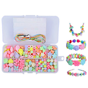1200pcs DIY Handmade Beaded Children's Toy Creative Loose Spacer Beads Crafts Making Bracelet Necklace Jewelry Kit Girl Toy Gift