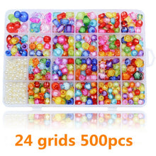 Load image into Gallery viewer, 1200pcs DIY Handmade Beaded Children's Toy Creative Loose Spacer Beads Crafts Making Bracelet Necklace Jewelry Kit Girl Toy Gift
