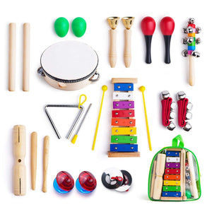 Musical Instruments for Toddler with Carry Bag,12 in 1 Music Percussion Toy Set for Kids with Xylophone,Rhythm Band