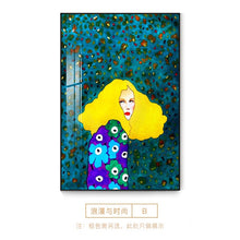 Load image into Gallery viewer, Nordic Style Handdraw Characters Canvas Painting Poster Print Modern Colorful Decor Wall Art Pictures For Living Room Bedroom