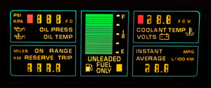 1984 Corvette Center Engine Information LCD (New)