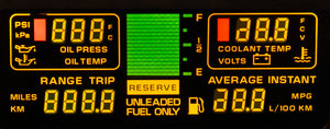 1985-1989 Corvette Center Engine Information LCD Panel