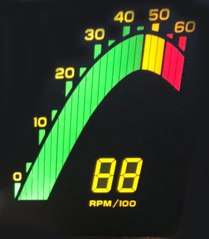 1985 Corvette Tachometer LCD Panel (New)