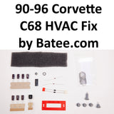 1990-1996 Corvette C68 ECC AC HVAC Restoration Kit