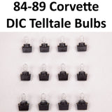 1984-1989 Corvette Digital Information Center Trip Monitor Telltale Bulbs Complete