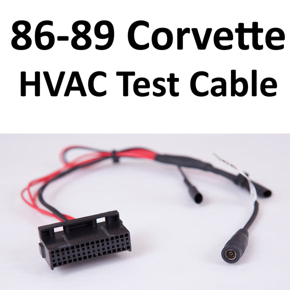 1986-1989 Corvette C68 ECC Air Conditioning Bench Test Cable
