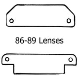1986-1989 Corvette Plastic Lens Kit with Rivets