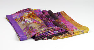 Twill silk scarf - Inspired by Monet 800-510 - Ellen Bakker