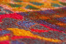 Load image into Gallery viewer, Silk with merino wool felted throw/wall hanging 500-025 - Ellen Bakker