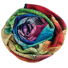Load image into Gallery viewer, Silk with merino wool felted throw/wall hanging 500-024 - Ellen Bakker