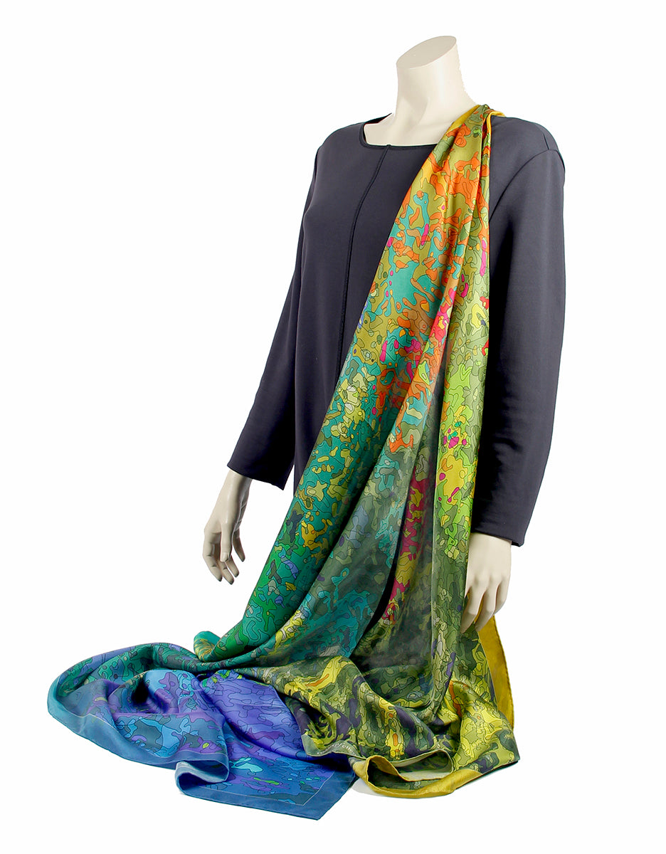 Twill silk scarf - Inspired by Monet 800-508 - Ellen Bakker