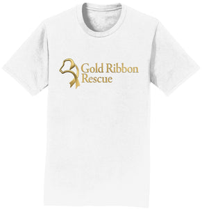 Gold Ribbon Rescue Logo - T-Shirt