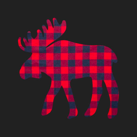 Plaid Moose - Adult Adjustable Face Mask