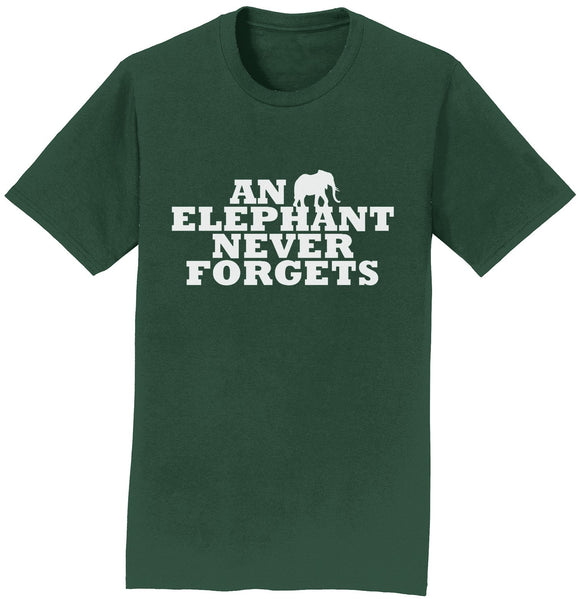 An Elephant Never Forgets T-Shirt | International Elephant Foundation
