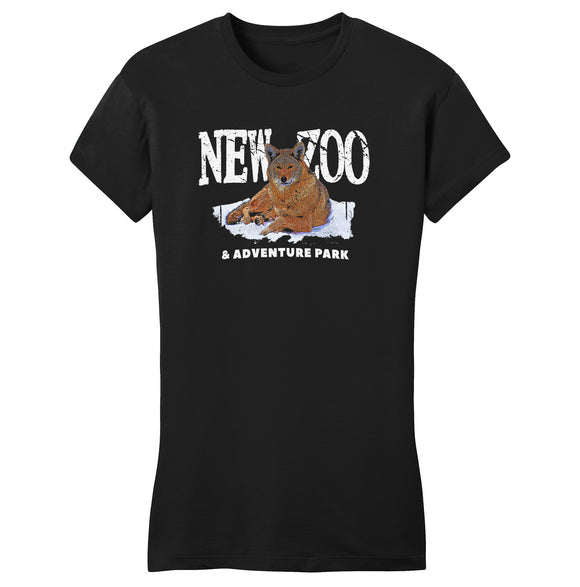 NEW Zoo & Adventure Park - NEW Zoo Red Wolf Art - Women's Fitted T-Shirt