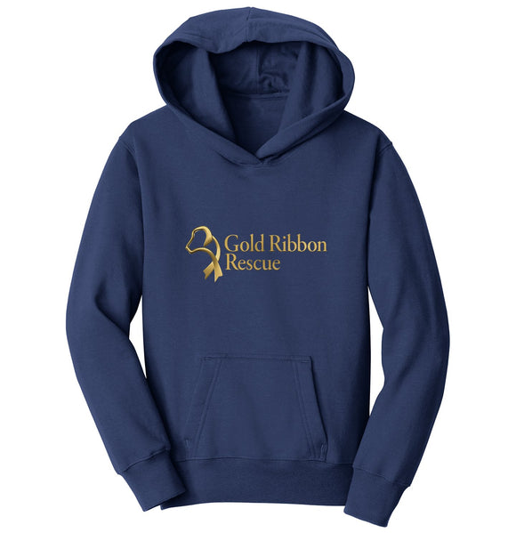 Gold Ribbon Rescue Logo - Youth Hoodie