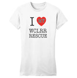 I Heart My WCLRR Rescue - Women's Fitted T-Shirt