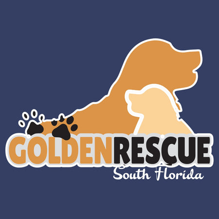 Golden Rescue South Florida Logo - Adult Unisex Long Sleeve T-Shirt