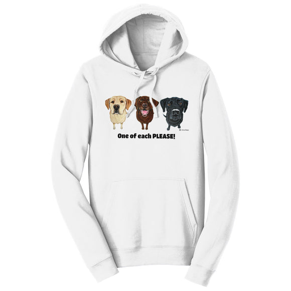 WCLRR - One of Each Labrador Please - Adult Unisex Hoodie Sweatshirt