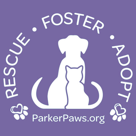 Parker Paws Logo Rescue Foster Adopt - Women's Tri-Blend T-Shirt