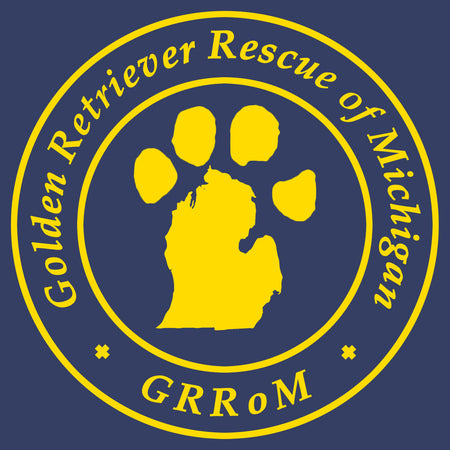 Golden Retriever Rescue of Michigan Logo - Full Front - Adult Unisex T-Shirt
