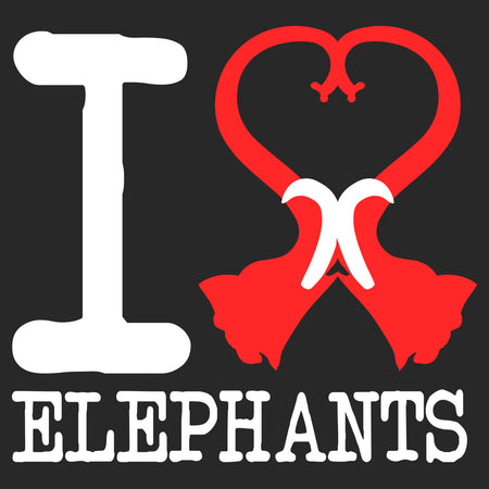 I Heart Elephants - Adult Unisex Long Sleeve T-Shirt