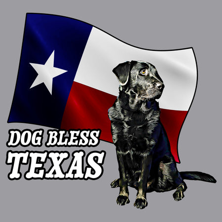 Dog Bless Texas Flag Lab - Adult Unisex Hoodie Sweatshirt