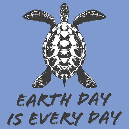 Earth Day is Every Day - Sea Turtle - Adult Tri-Blend T-Shirt