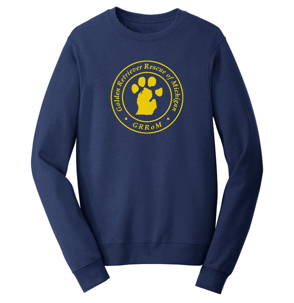 Golden Retriever Rescue of Michigan Logo - Full Front - Crewneck Sweatshirt