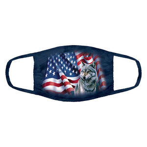 The Mountain - Wolf Flag - Adult Unisex Face Mask