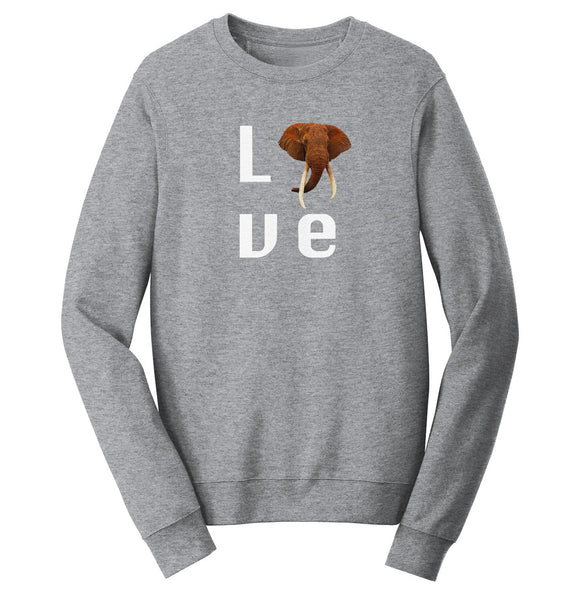 Elephant Love - Crewneck Sweatshirt | International Elephant Foundation