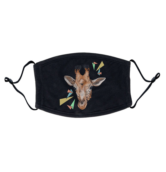 Giraffe and Color Shapes Illustration Adult Adjustable Face Mask | NEW Zoo & Adventure Park