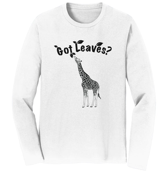 Giraffe Got Leaves Long Sleeve Tee Shirt | NEW Zoo & Adventure Park