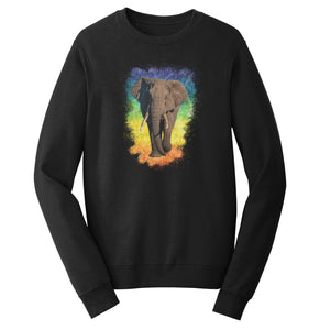Elephant Rainbow - Crewneck Sweatshirt | International Elephant Foundation