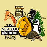 New Zoo Minimalist Animals Logo - Adult Unisex T-Shirt