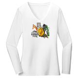 New Zoo Minimalist Animals Logo - Women's V-Neck Long Sleeve T-Shirt