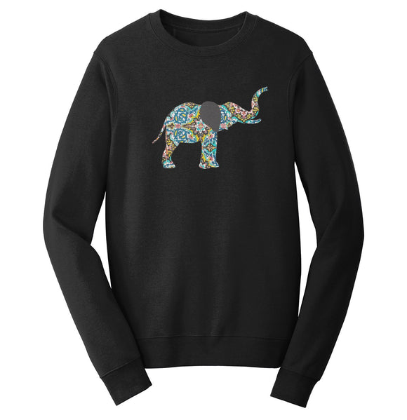 Elephant Mosaic Crewneck Sweatshirt | International Elephant Foundation