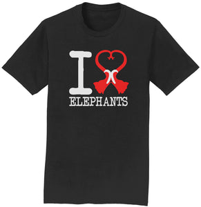 International Elephant Foundation - Shirt - I Heart Elephants