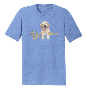 Gold Ribbon Rescue Puppy Logo - Tri-Blend T-Shirt
