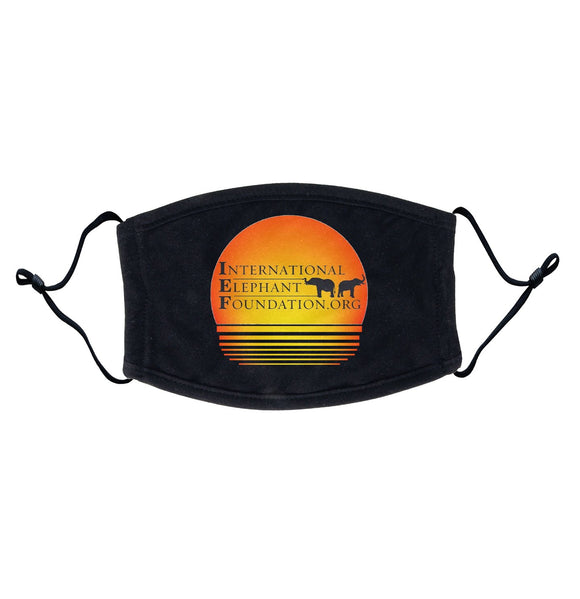International Elephant Foundation - IEF Sunset Logo - Adult Adjustable Face Mask