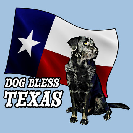 Dog Bless Texas Flag Lab - Women's Fitted T-Shirt